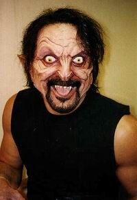 Tom Savini...Acted in 'From Dusk Till Dawn' and: Make-up and special effects artist in 'The Texas Chainsaw Massacre 2 (1986)'