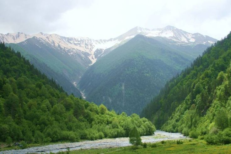 Landscape in South Ossetia's Dzhava District. ◆South Ossetia - Wikipedia http://en.wikipedia.org/wiki/South_Ossetia #South_Ossetia