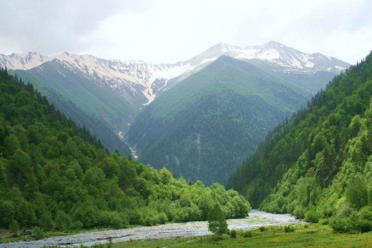 Landscape in South Ossetia's Dzhava District. ◆South Ossetia - Wikipedia http://en.wikipedia.org/wiki/South_Ossetia #South_Ossetia