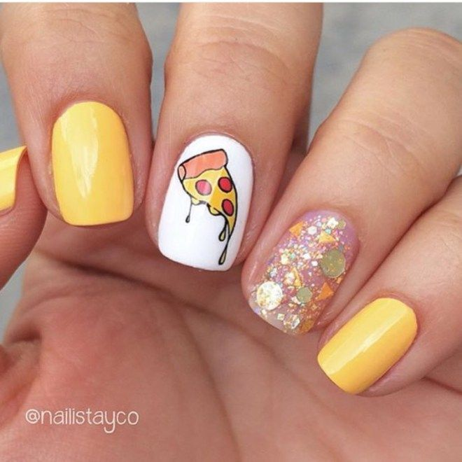 25 Pizza Nails That Look Good Enough To Eat – CherryCherryBeauty