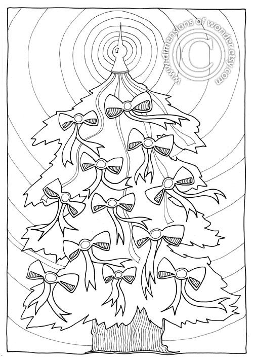 8 best christmas coloring (la) images on Pinterest Bubble letters - new christmas tree xmas coloring pages