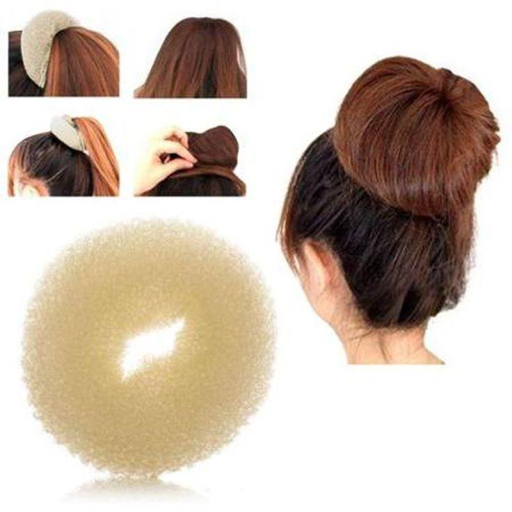 Sale Womens Mode Trendy Bola Kepala Disk Donat Rambut Hairdressing alat Rambut Aksesoris 3 Warna