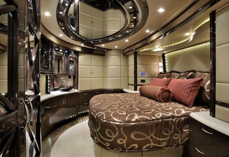RV bedroom | Dream home | Rv motorhomes, Luxury rv, Home decor