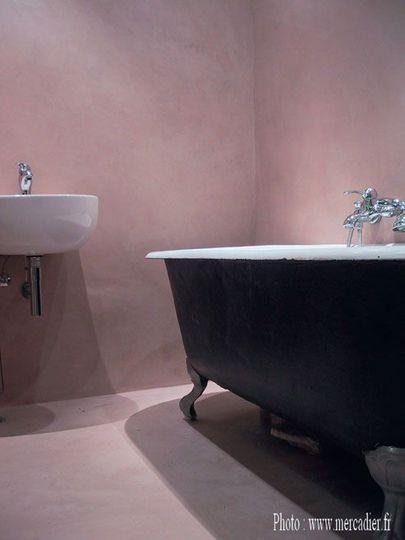 Le béton ciré donne du cachet à la salle de bains - CôtéMaison.fr