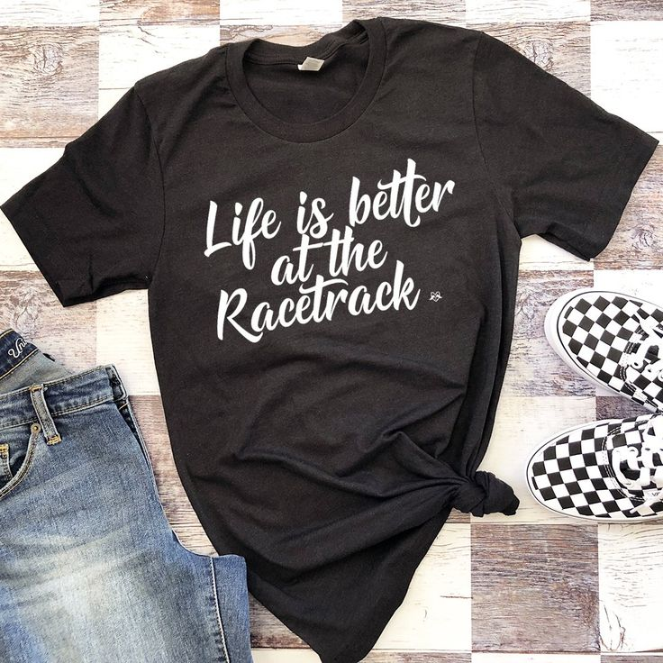 Custom Life is Better at the Racetrack – Unisex Race Shirt