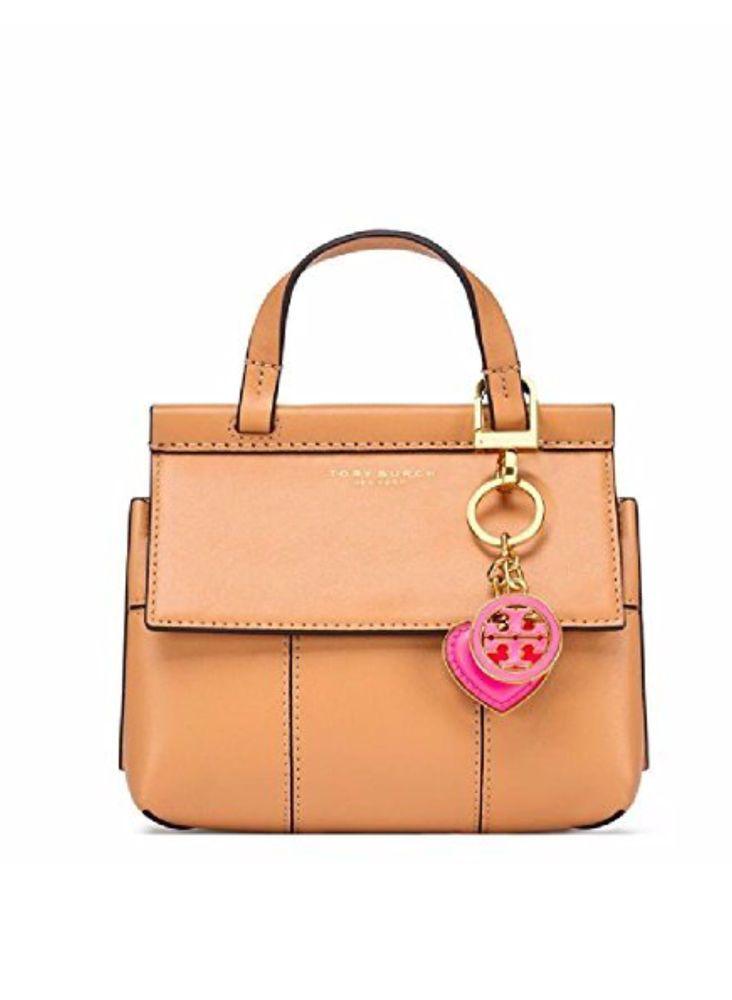 47a2ac1200f Tory Burch Logo   Heart Charm Key Fob Bag Charm Pink  ToryBurch ...