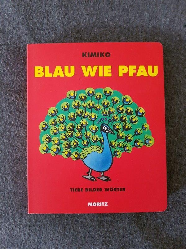 Bilder - Buch Blau wie Pfau bunte Tiere Moritz Verlag Top - Zustand