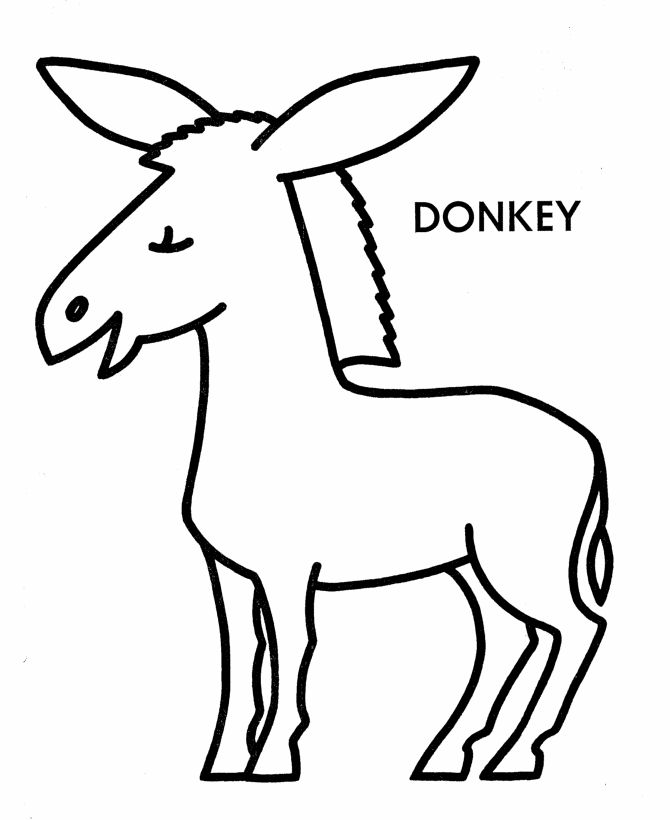 d is for donkey coloring pages - photo #12
