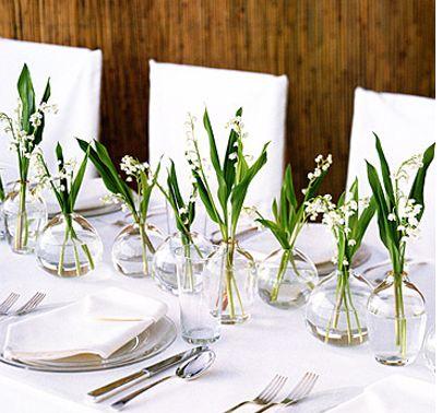 Ślubne dekoracje - konwalie