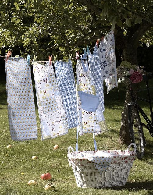 Love the wonderful, fresh smell of clothes drying outside on a line.