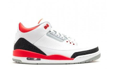 newest mens authentic air jordan 3 retro 2013 with white fire red silver black up to 50%