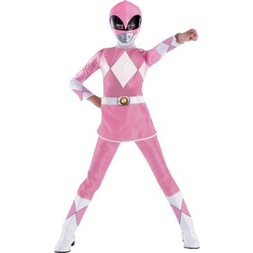 pink power ranger - what she's claiming to want to be for Halloween 2011.