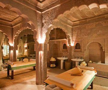 Le spa du Taj Lake Palace à Udaipur en Inde