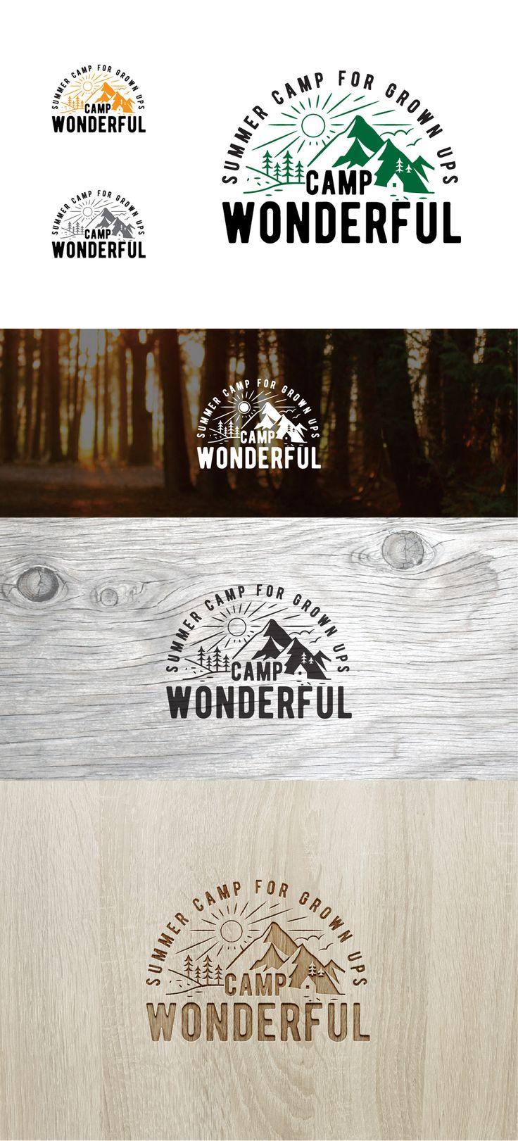 Messages | Camp Wonderful, Summer Camp for Grown Ups | Logo design contest