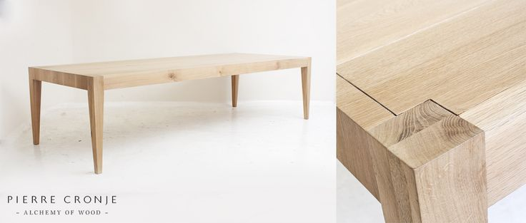 A Pierre Cronje Arniston dining table in French Oak - 3000x1200x760mm (LxWxH).