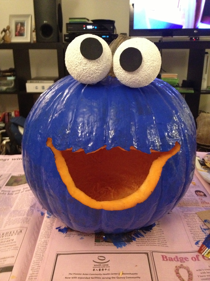Cookie monster pumpkin! | Halloween | Pinterest | Monsters ...