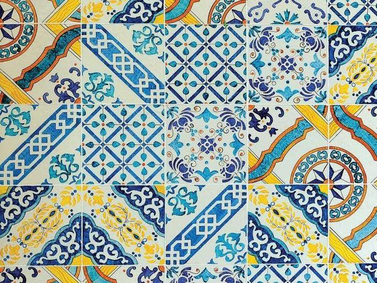 Piastrelle geometriche tendenza casa 2016 - made a mano, Mediterraneo