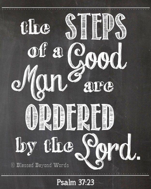 The Steps of a Good Man Free Printable