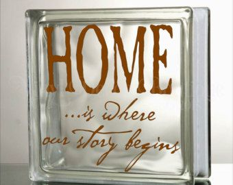 Welcome Glass Block Decal Tile Mirrors DIY by VinylDecorBoutique