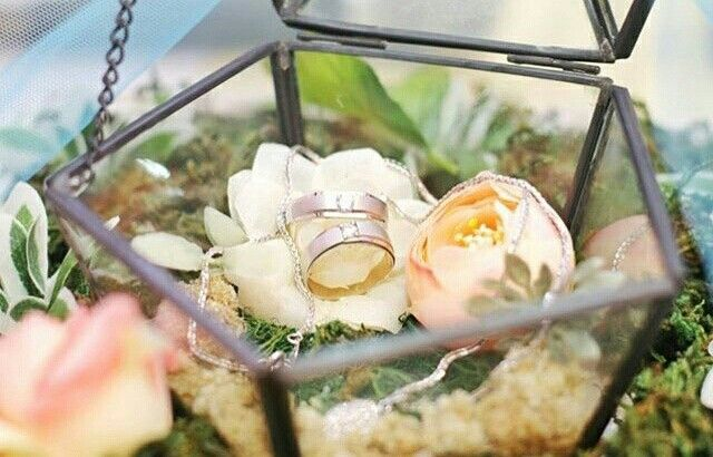 Glass ring box details