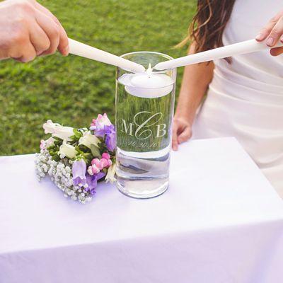 Wedding Monogram Floating Unity Candle