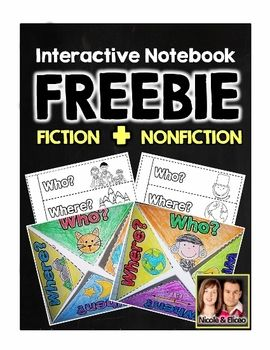 FREEBIE ALERT! Check out these Interactive Notebook comprehension activities for fiction & nonfiction!