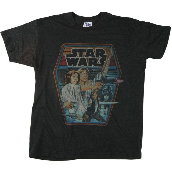 Junk Food Star Wars T-Shirt - Adult Retro Star Wars T-Shirts (95 BRL) ❤ liked on Polyvore featuring tops, t-shirts, shirts, tees, retro shirts, retro t shirts, junk food clothing, retro tees and tee-shirt