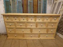 Pine Bank of Drawers / Sideboard - ha02