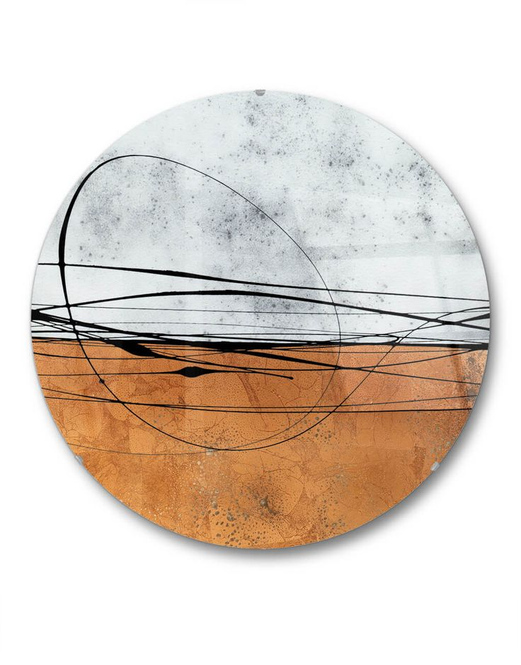 Round Antiqued Mirror Copper I