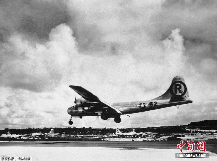 """历史图片:1945年8月6日,""""艾诺拉·盖伊""""波音公司b - 29超级空中堡垒战斗机在天宁岛起飞后完成美国对日本广岛原子弹爆炸的使命。 ▼6Aug2014新华网 日本广岛原子弹爆炸历史图集 http://news.xinhuanet.com/mil/2014-08/06/c_126839325.htm #Hiroshima #Aug6 #WWII #atomic_bombing #Tinian #天宁岛 #テニアン島"""
