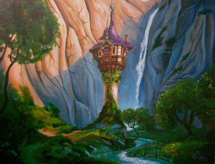 Rapunzel's tower in Tangled | books