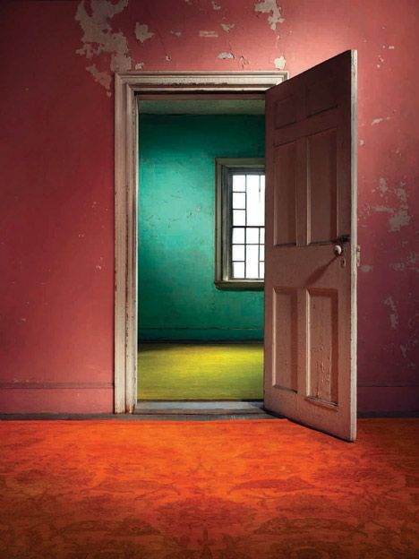 The ABC Carpet & Home launched a carpet campaign called The Color Reform Spectrum Edition. With this collection they wanted to show how a carpet can change your home by installing their carpets in an abandoned house in New York City. photography by Jason Mandara.