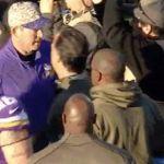 Mike Zimmer gives Jeff Fisher cold shoulder in handshake line (video) - http://blog.clairepeetz.com/mike-zimmer-gives-jeff-fisher-cold-shoulder-in-handshake-line-video/