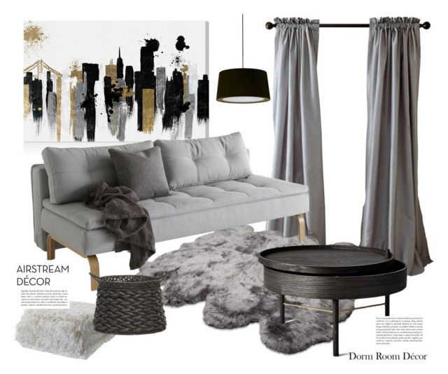 dorm room decor by maria-tzi on Polyvore featuring interior, interiors, interior design, home, home decor, interior decorating, Menu, Santa & Cole, UGG Australia and Oliver Gal Artist Co.