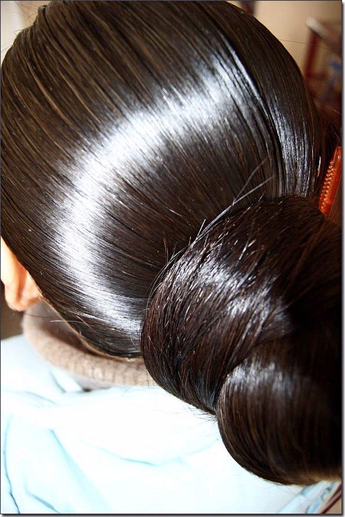Nice Oily Huge Bun In 2020 Bun Hairstyles For Long Hair