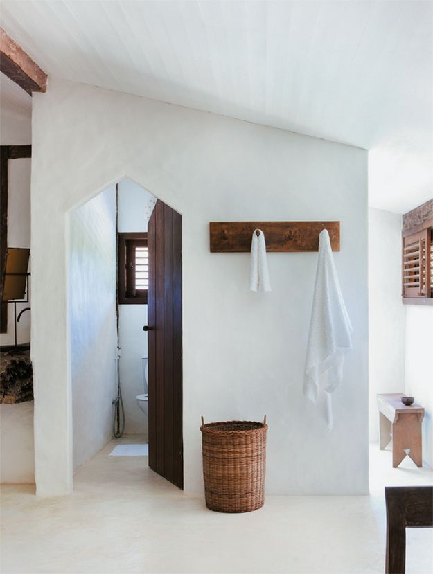 All White Interiors and Wood