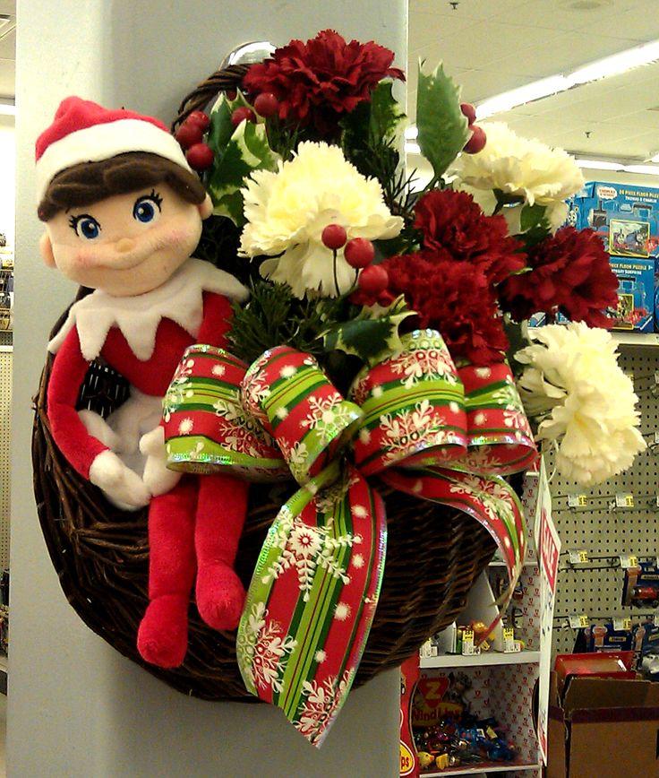 Elf On The Shelf Pocket Basket Arrangement Designed By