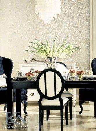 Linii curate, culori bogate si detalii stralucitoare! Graceful wallpaper. Chair.