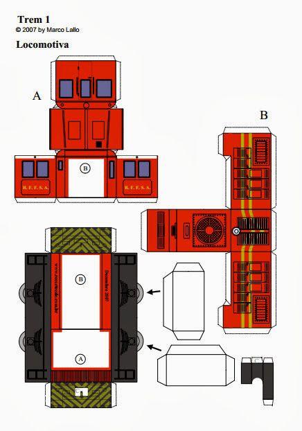 Educar X: Molde de trem locomotiva com vagões | Free ...