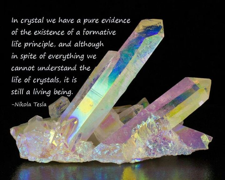 Tesla on crystals - living beings