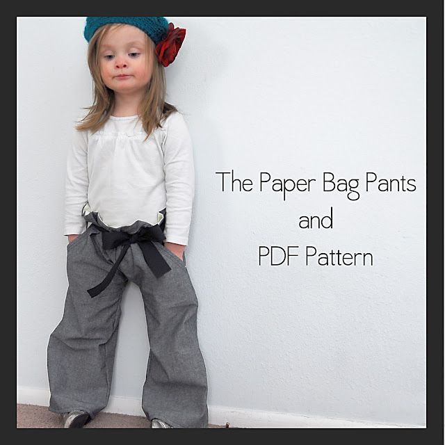 adorable free pattern--paper bag pants