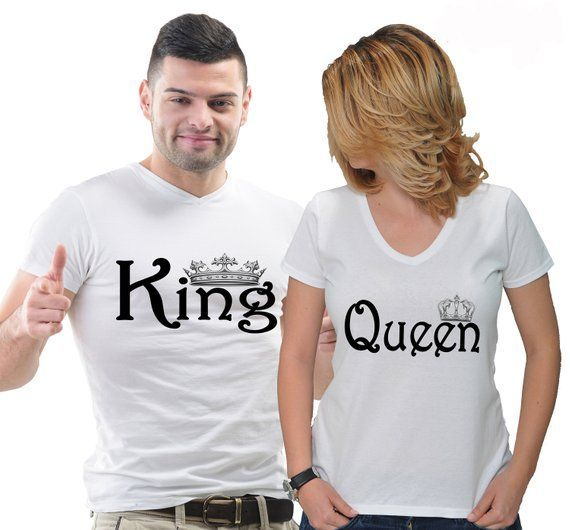 Birthday Gift Gift for Couples King T-shirt Queen T-shirt Birthday Gift for Boyfriend Gift Ideas for Anniversary Crown T-shirt