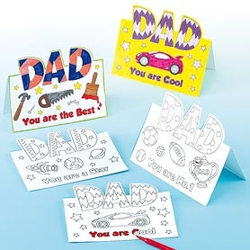 Fantastic Father's Day cards for children to colour in and personalise