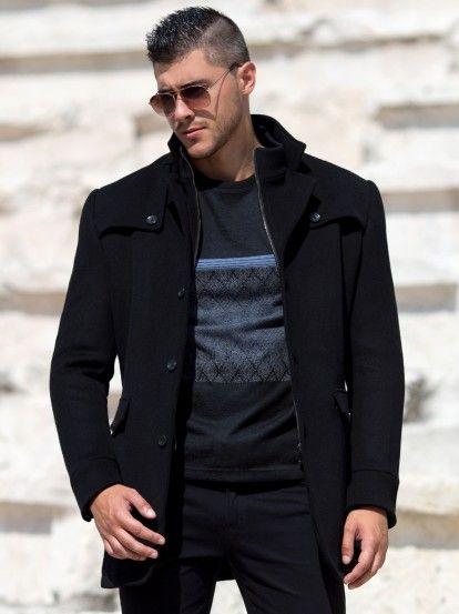 Palton de iarnă pentru bărbați STYLER - negru