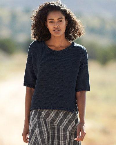 45a532ae055b7c Poetry - Grob gestrickter Baumwollpullover - Ein leichter Pullover aus  unserem etwas dickeren Bändchengarn aus Baumwolle