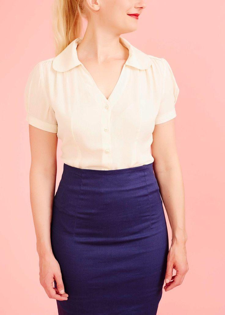 Den fineste skjortebluse, som passer perfekt sammen med et bukser og nederdele med høj talje.