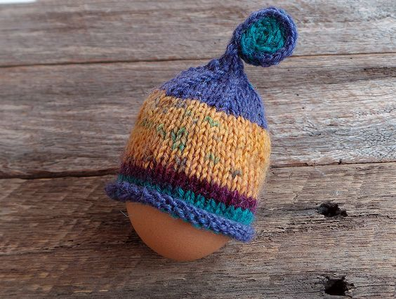 Winter woollies. Very cute - Set of 4 Egg Cosies  #countryculture #fairweatherdesign
