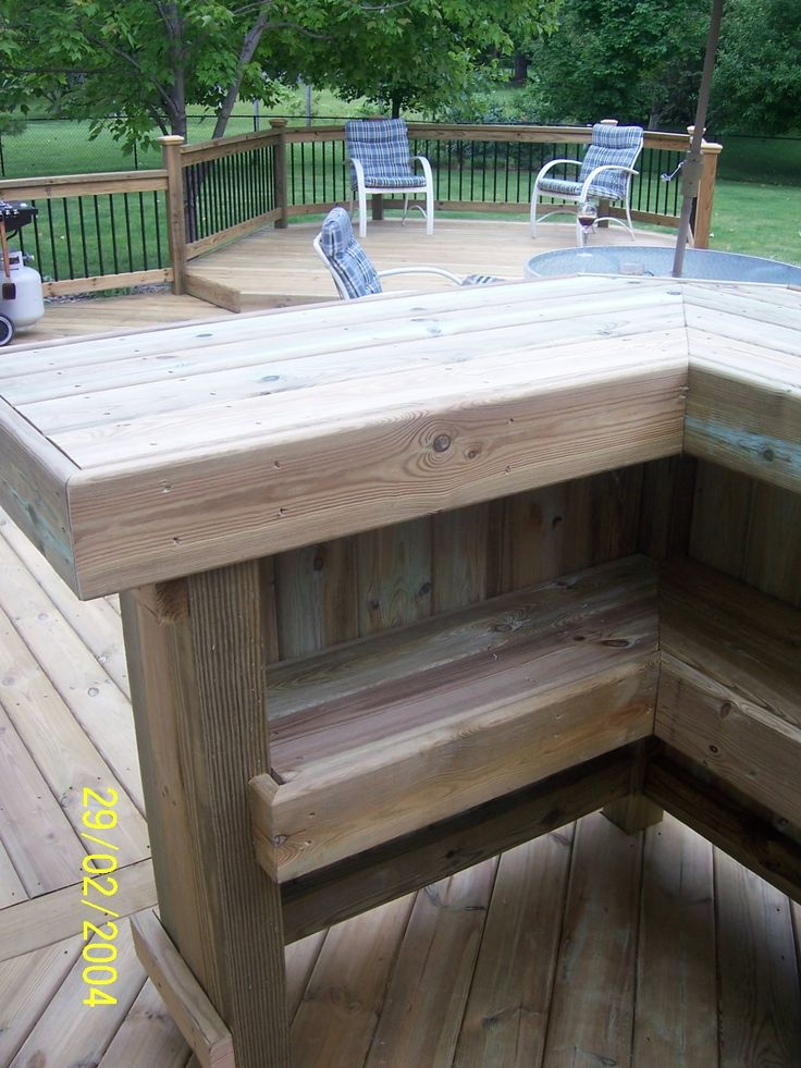 17 best images about outdoor bar on pinterest diy for Wood outdoor bar ideas