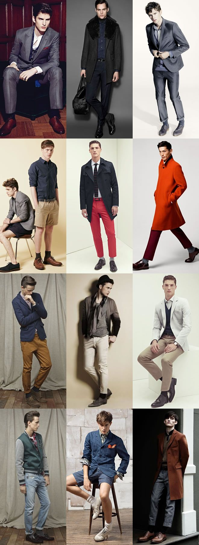 Men's Neutral Socks Lookbook Inspiration