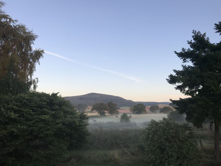A misty sunrise; a beautiful start to the day here at our South Shropshire Bed and Breakfast - July 2017